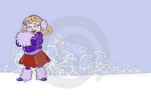 Winter Lady Stock Image - Image: 17463711