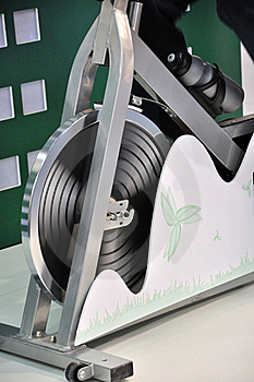 Part Of Generator Bicycle As Gymnastics Apparatus Royalty Free Stock Photography - Image: 17464267