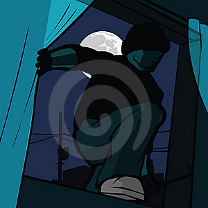 Home Invasion Royalty Free Stock Image - Image: 17464876