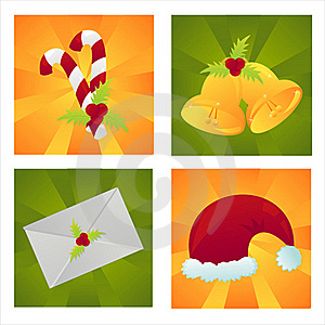 Set Of 4 Christmas Backgrounds Royalty Free Stock Photos - Image: 17464928