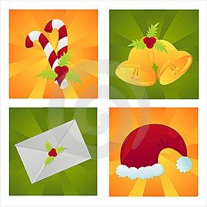 Set Of 4 Christmas Backgrounds Royalty Free Stock Photos - Image: 17464928