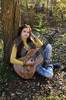 Guitar Player Girl Royalty Free Stock Photography - Image: 17466737