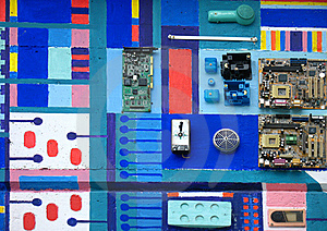 Electronics On A Wall Stock Photography - Image: 17466802