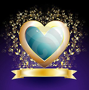 Golden Heart Royalty Free Stock Image - Image: 17467656