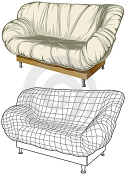 Sofa. 3D Construction Stock Photos - Image: 17468133