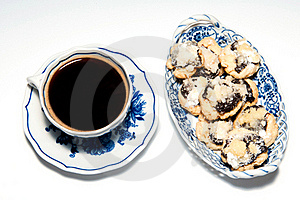 Cup Of Coffee With Cakes Stock Photos - Image: 17468923