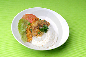 Rice Dinner Royalty Free Stock Photography - Image: 17469897