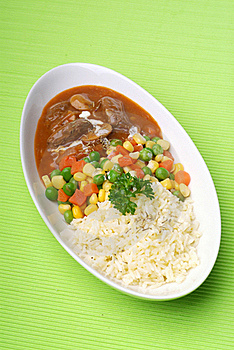 Rice Dinner Royalty Free Stock Photos - Image: 17469988