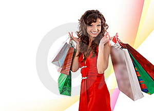 Shopping Pretty Woman Stock Photos - Image: 17471523