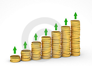 Money Graph Royalty Free Stock Photography - Image: 17472337