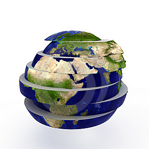 Sliced World Stock Images - Image: 17472464