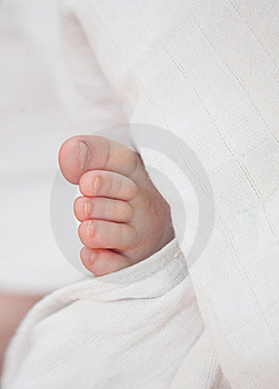 Baby Leg, Toes, White Surround Royalty Free Stock Photos - Image: 17472758