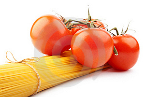 Italian Spaghetti With Tomatoes Royalty Free Stock Photography - Image: 17472887