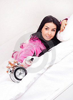 Girl Wakes Up Stock Photos - Image: 17476463