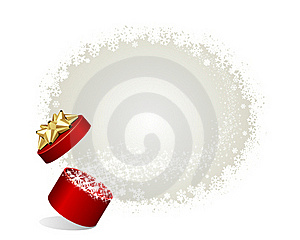 Open Explore Gift With Fly Stars Stock Photography - Image: 17476742
