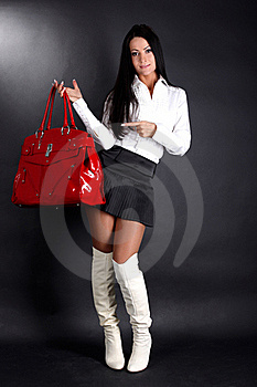 Woman With Red Bag Royalty Free Stock Photography - Image: 17476957