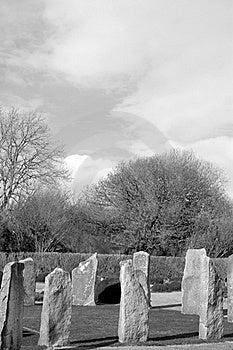 Ancient Gaelic Standing Stone Circle Royalty Free Stock Photo - Image: 17477395