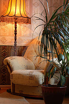 Armchair And Floor Lamp Stock Images - Image: 17477674