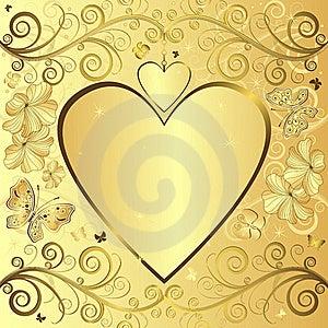 Valentine Elegant Golden Background Stock Photos - Image: 17479423