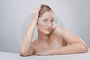Plastic Protective Goggles Stock Photo - Image: 17482100