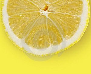 Lemon Slice On Yellow Background Stock Images - Image: 17482174