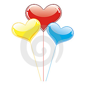 Balls-hearts Royalty Free Stock Photography - Image: 17482217