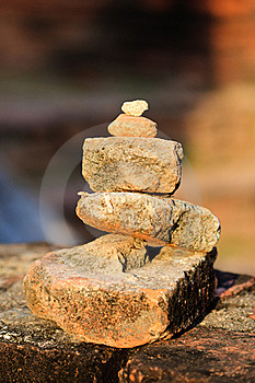 Stones Balanced On Each Other Royalty Free Stock Photo - Image: 17491775