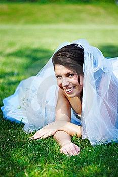 Fanny Bride On The Grass Stock Photos - Image: 17492443