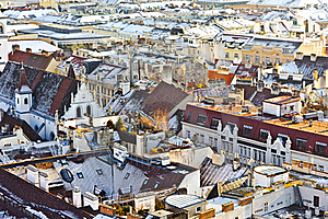 View Over Vienna In Snow Royalty Free Stock Photo - Image: 17492645