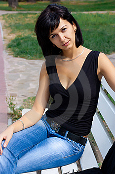 The Girl On The Bench Stock Photography - Image: 17495172