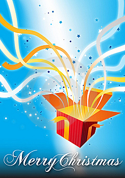 Merry Christmas Surprise Gift Box Royalty Free Stock Photography - Image: 17495187