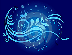 X'mas Decor With Reindeer Royalty Free Stock Photos - Image: 17495248