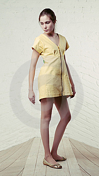 Small Yellow Dress Royalty Free Stock Photography - Image: 17496017