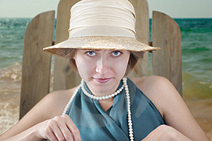 Lady In Hat Stock Image - Image: 17496101