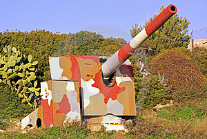 Camouflage Cannon Royalty Free Stock Photos - Image: 17498148