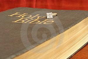 Verlovingsring Op Bijbel Stock Afbeelding - Afbeelding: 1752211