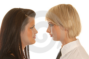 Business Woman's Teamwork Stock Photo - Image: 1757610