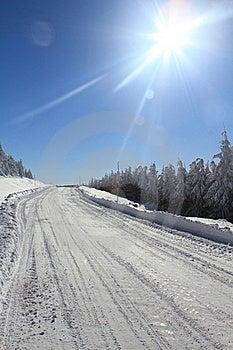 Winter Road Royalty Free Stock Image - Image: 17503306