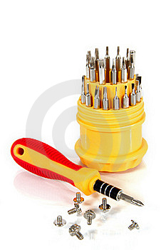 Set Of Screw-drivers Stock Images - Image: 17503834