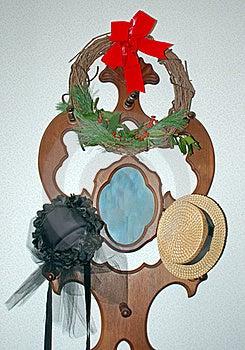 Weinlesehüte Und Wreath Stockbild - Bild: 17506031