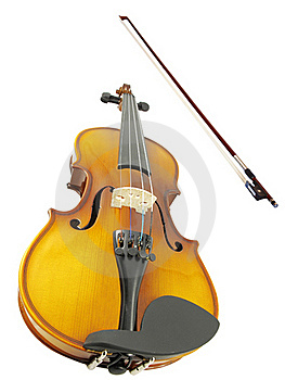 Violins And A Fiddlestick Royalty Free Stock Photos - Image: 17506338