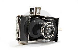 Old Film Photo Camera On White Background Royalty Free Stock Image - Image: 17507186