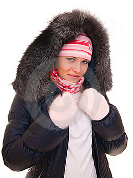 Beautiful Girl In A Winter Jacket Royalty Free Stock Image - Image: 17507546