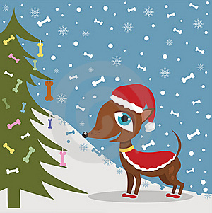 Christmas Dog In Costume Stock Photos - Image: 17509053