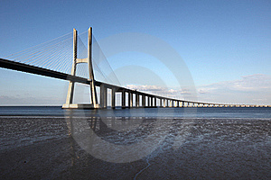 Vasco Da Gama Bridge In Lisbon Stock Photography - Image: 17510572