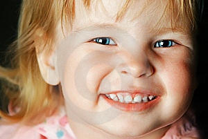Smiling Little Girl With Blue Eyes Royalty Free Stock Image - Image: 17518816