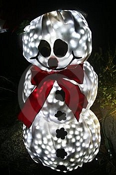 Snowman Yard Decoration Royalty Free Stock Photos - Image: 17519618
