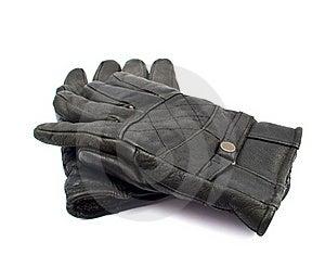 Black Leather Gloves Stock Photo - Image: 17519700
