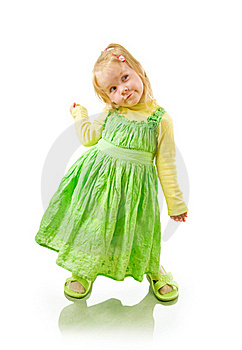 Little Cheerful Girl Coquette Royalty Free Stock Photos - Image: 17521808