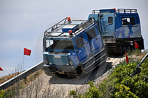 Hagglund Outside Christchurch Antarctic Centre Royalty Free Stock Images - Image: 17524839